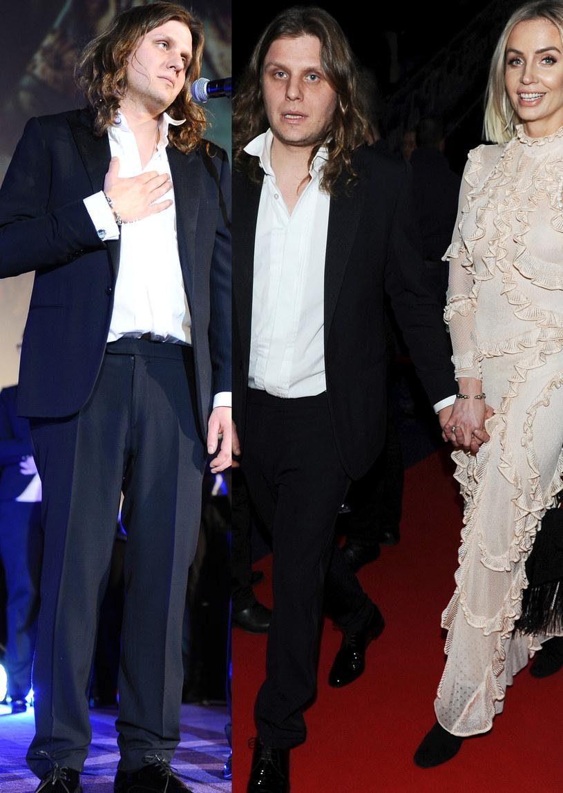 Starak z żoną na premierze filmu /Jarosław Antoniak /MWMedia