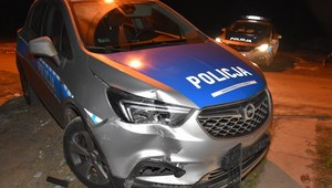 Staranował 17 aut, rogatki kolejowe i próbował przejechać policjanta