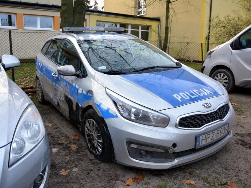Staranowane  radiowozy /Policja