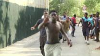 Starcia imigrantów z żandarmerią na granicy hiszpańsko-marokańskiej w Ceucie