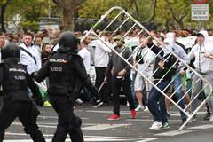 Starcia kibiców Legii z madrycką policją