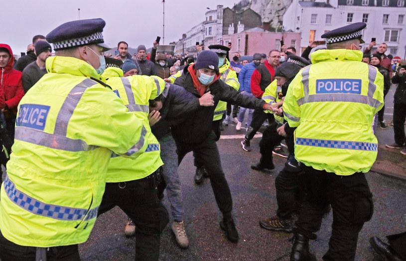 Starcia kierowców z policją w Dover / Steve Parsons/PA Images /Getty Images