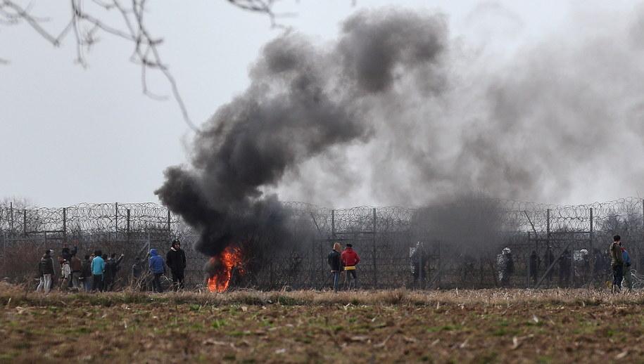 Starcia na granicy turecko-greckiej /ERDEM SAHIN /PAP/EPA