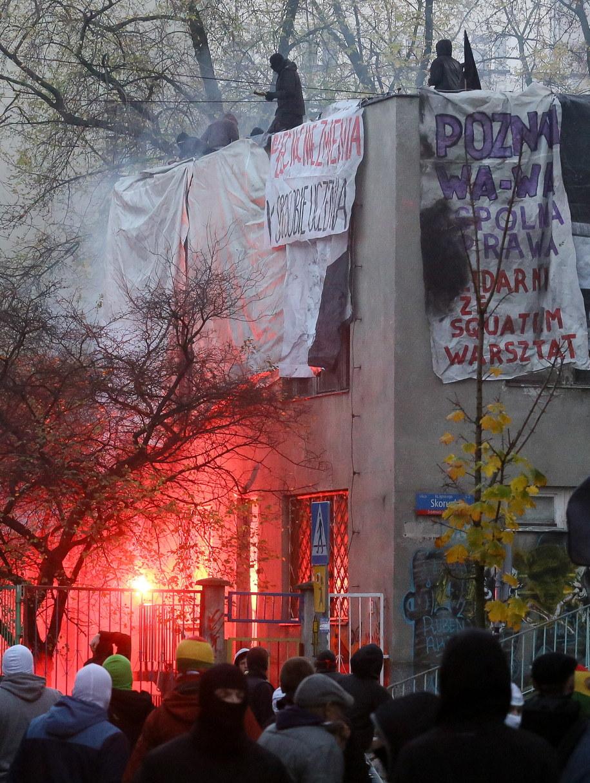 Starcia na ulicy Skorupki /Paweł Supernak /PAP