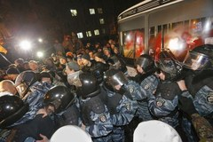 Starcia opozycji z milicją na Ukrainie