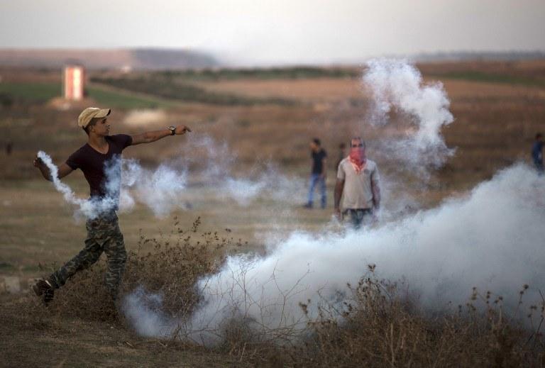 Starcia Palestyńczyków z izraelskimi żołnierzami /MOHAMMED ABED / AFP /AFP