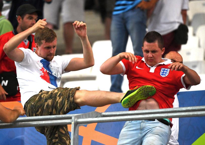 Starcia pseudokibiców podczas meczu Anglii z Rosją /PAP/EPA