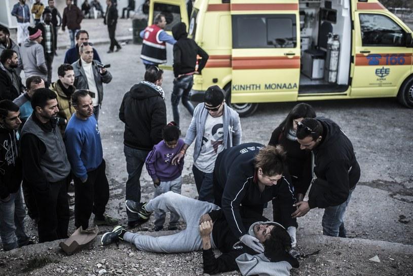 Starcia w greckim obozie dla uchodźców, zdj. ilustracyjne /Joris van Gennip | Hollandse Hoogte /East News