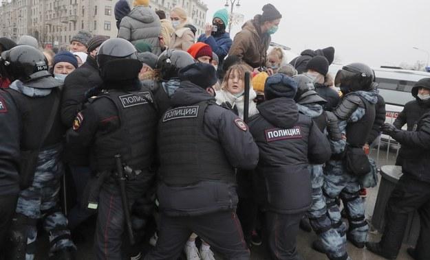 Starcia w Moskwie /MAXIM SHIPENKOV    /PAP/EPA