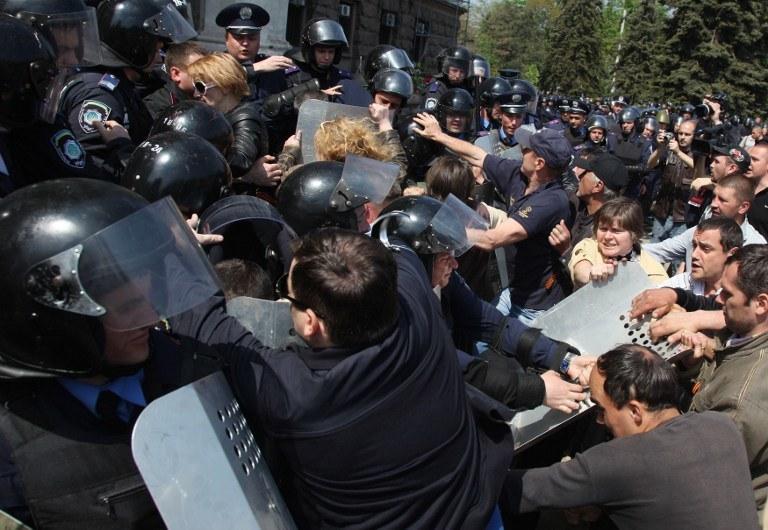 Starcia w Odessie /AFP