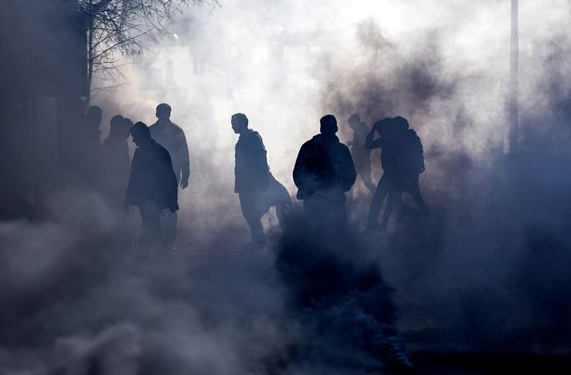Starcia w Prisztinie w 2015 r. Protesty przeciwko porozumieniu, jakie Kosowo zawarło z Serbią /AFP