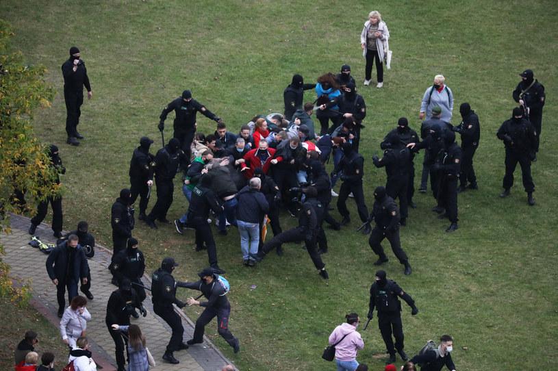 Starcia z policją na Białorusi /BelaPAN/Reuters /Agencja FORUM