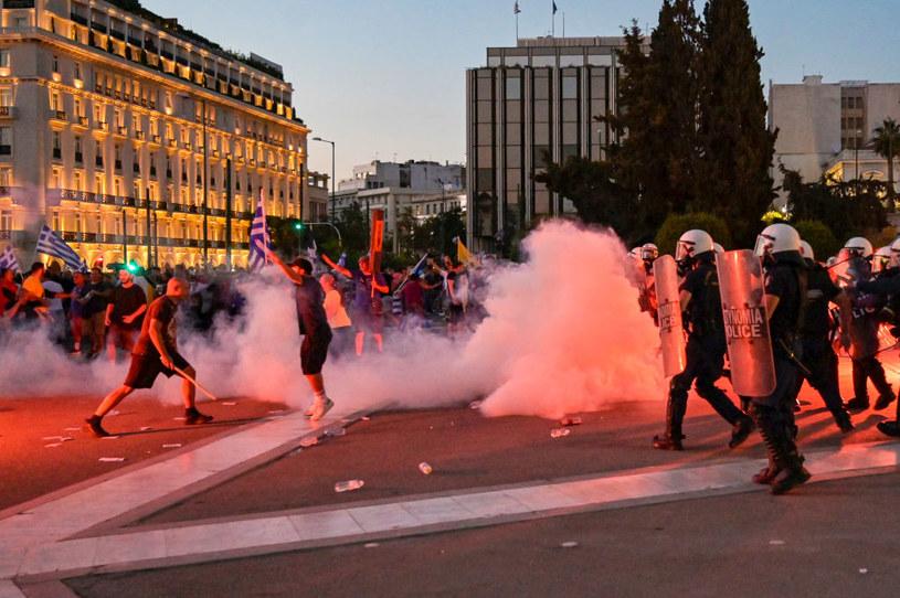 Starcia z policją w Atenach /Milos Bicanski /Getty Images