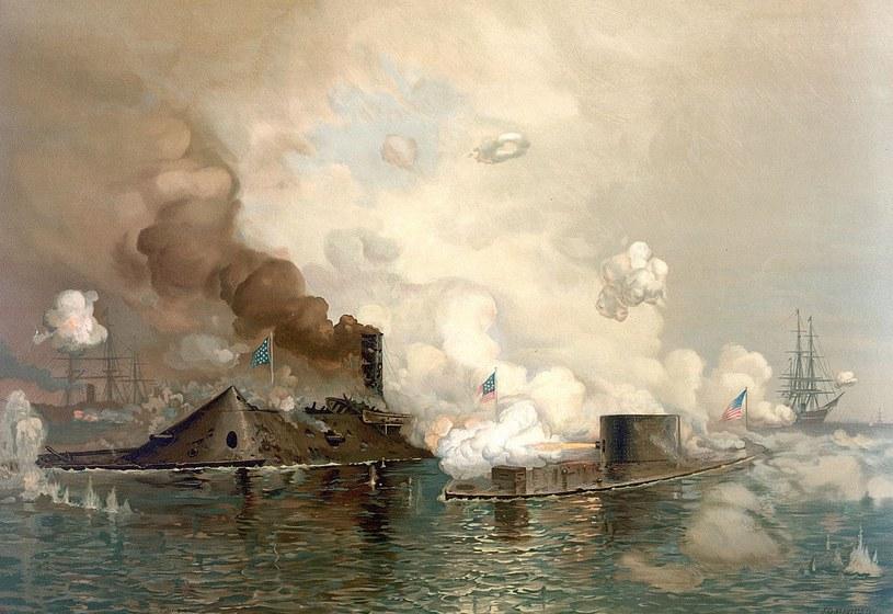"""Starcie CSS """"Virginia"""" i USS """"Monitor"""" /Wikimedia Commons /materiały prasowe"""