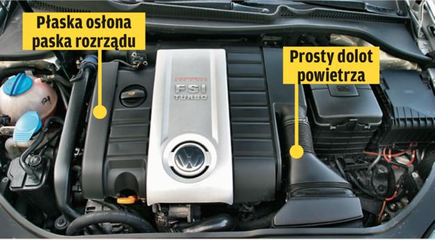 STARE 2.0 TSI  Mają rozrząd napędzany paskiem zębatym i całkowicie inną konstrukcję. Nie są pozbawione wad, ale nie dotyczy ich problem wadliwych tłoków i pierścieni. W pierwszej serii EA113 silniki TSI miały pojemność 2.0 (głównie Audi A3/A4 i Golf GTI od 2004 r.). /Motor