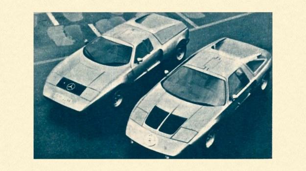 """Stare nadwozie prototypu """"z lewej"""" i nowe, z polepszoną widocznością. Ciągle nie wiadomo czy Mercedes C 111 wejdzie kiedykolwiek do małoseryjnej produkcji. /Motor"""