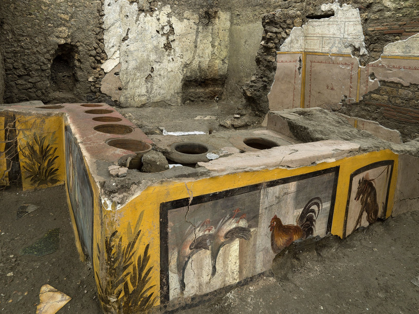 Starożytny bar z fast foodem w Pompejach /Parco Archeologico di Pompei/Associated Press/East News /East News