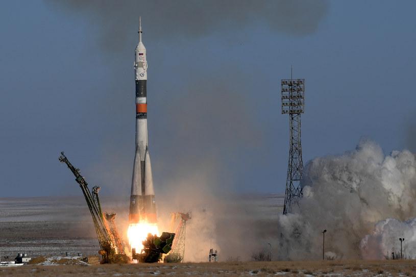 Start rosyjskiego statku kosmicznego Sojuz MS-07 /Kirill Kudryavtsev /AFP