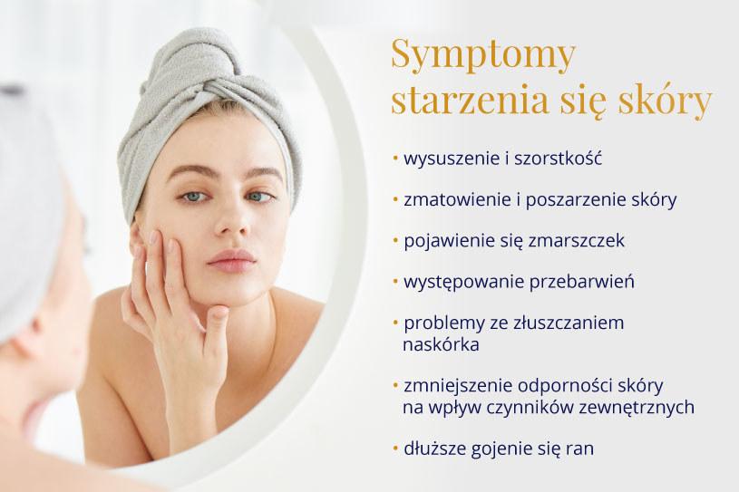 Starzenie się skóry - objawy /materiały promocyjne partnera