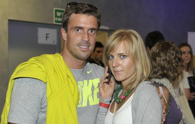Staszek Karpiel z żoną, fot.Kurnikowski  /AKPA