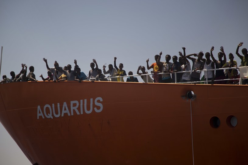 Statek Aquarius /AP Photo/Emilio Morenatti /AFP