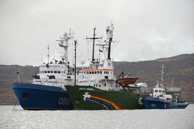 Statek Arctic Sunrise /Dmitri Sharomov / Greenpeace /PAP/EPA