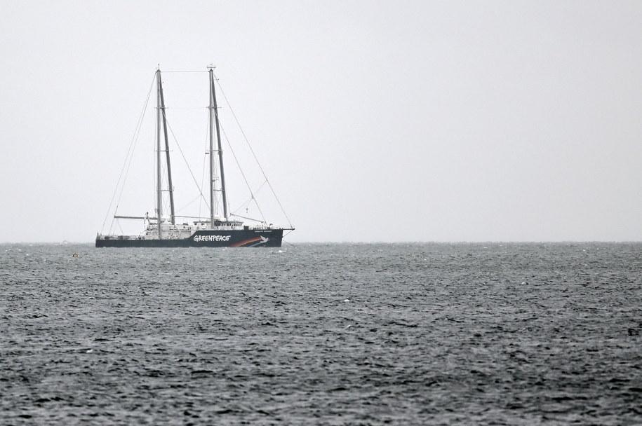 """Statek Greenpeace """"Rainbow Warrior"""" w Gdańsku /Marcin Gadomski /PAP"""