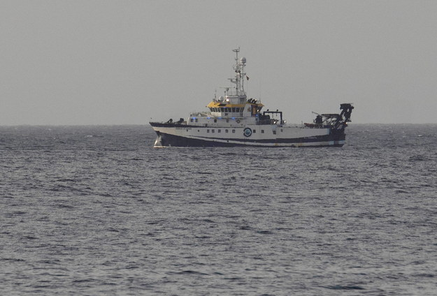 "Statek poszukiwawczy ""Angeles Alvarino"" /Miguel Barreto /PAP/EPA"