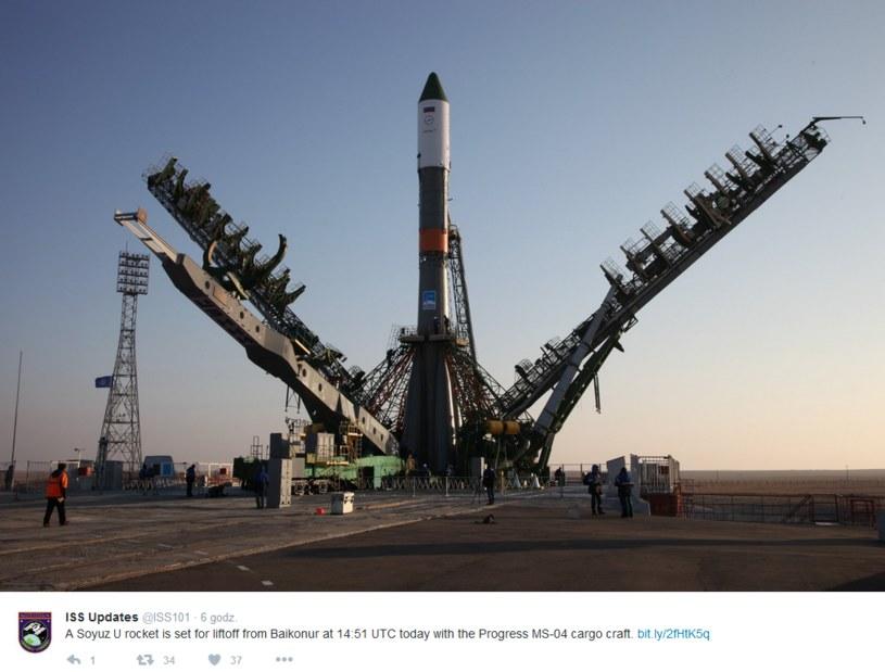 Statek Progress MS-04 być może spadł już gdzieś w rejonie Chin lub Oceanu Spokojnego /Twitter