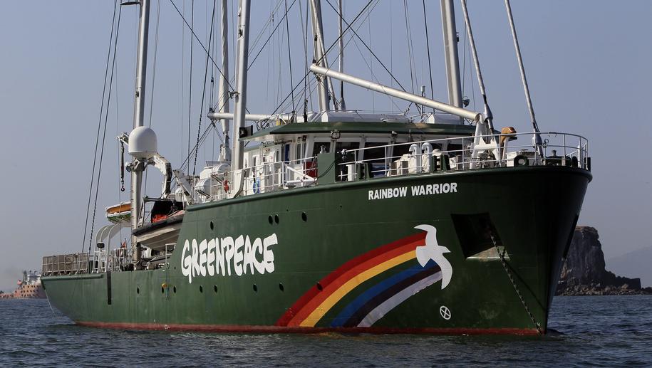 Statek Rainbow Warrior III /ALEJANDRO BOLIVAR /PAP/EPA