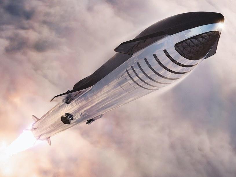 Statek SpaceX Starship /materiały prasowe