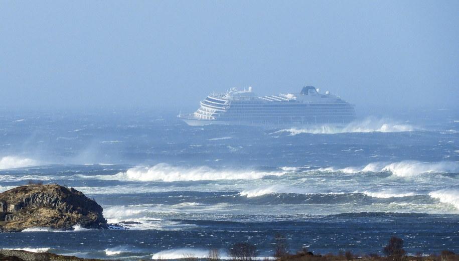 Statek wycieczkowy Viking Sky /Frank Einar Vatne /PAP/EPA