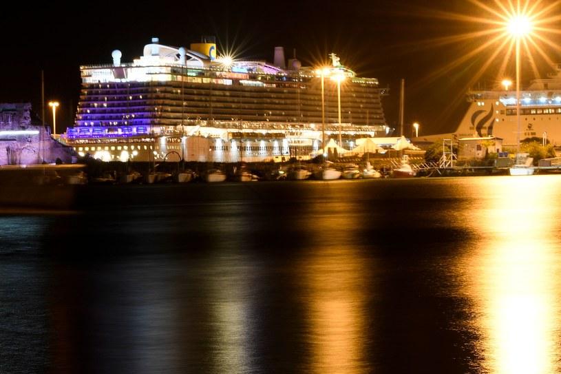 Statek wycieczkowy w porcie Civitavecchia /AFP