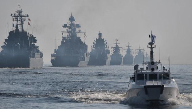 Statki Floty Bałtyckiej /ALEXEI NIKOLSKY / SPUTNIK / KREMLIN POOL / POOL /PAP/EPA