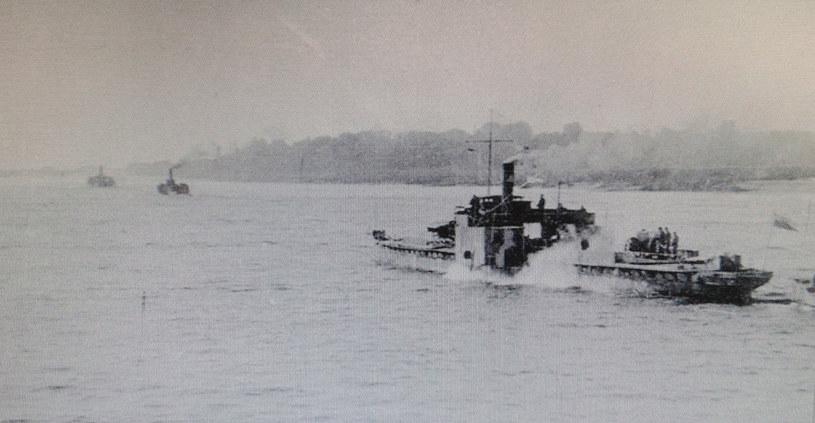 Statki uzbrojone Flotylli Wiślanej w sierpniu 1920 roku /domena publiczna