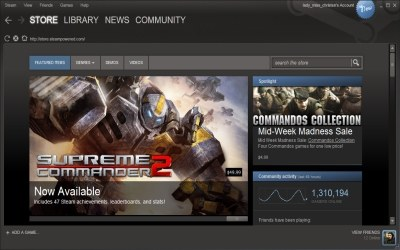 Steam - zrzut ekranu /Informacja prasowa