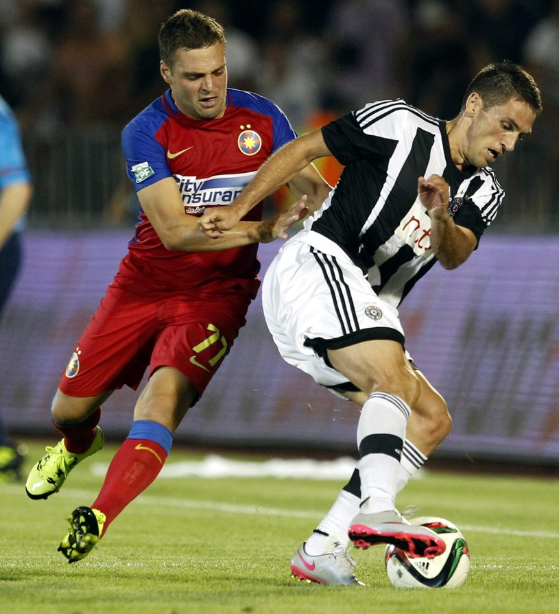 Steaua Bukareszt okazała się gorsza od Partizana Belgrad /PAP/EPA
