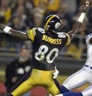 Steelers - Falcons 34-34. Plaxico Burress zdobył dwa przyłożenia dla Steelers