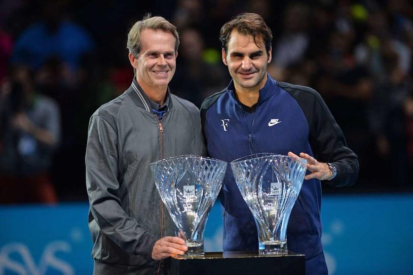 Stefan Edberg i Roger Federer /AFP
