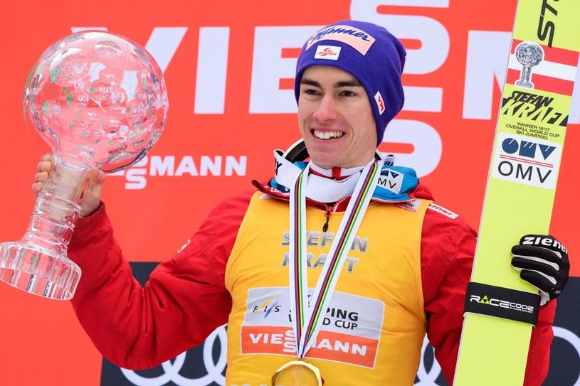 Stefan Kraft to zwycięzca PŚ z zeszłego sezonu /AFP