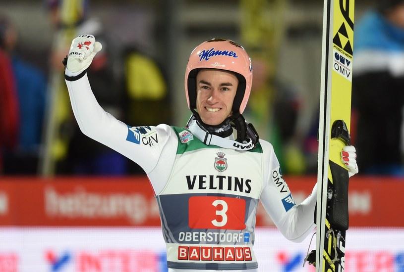 Stefan Kraft triumfuje /AFP