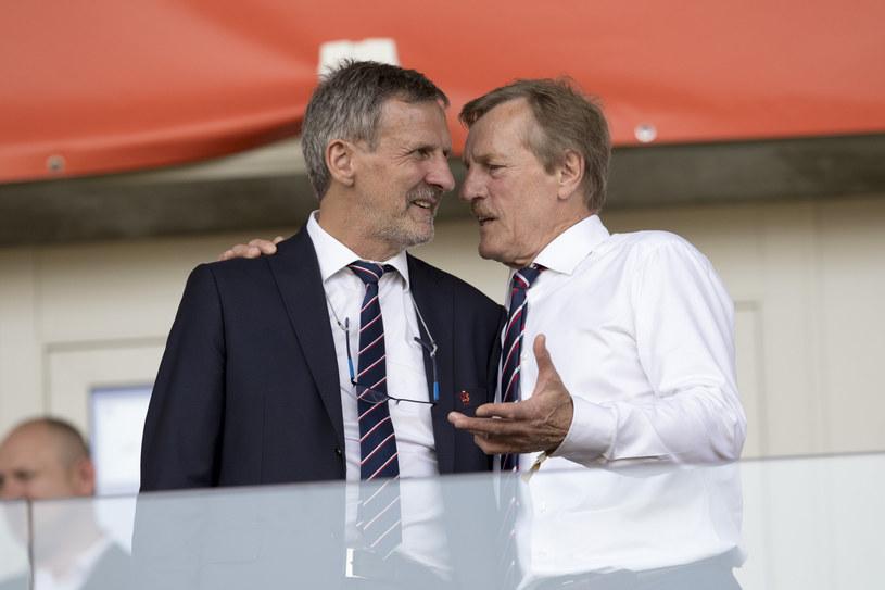 Stefan Majewski (z lewej) w rozmowie z Józefem Młynarczykiem /Andrzej Iwańczuk/Reporter /East News