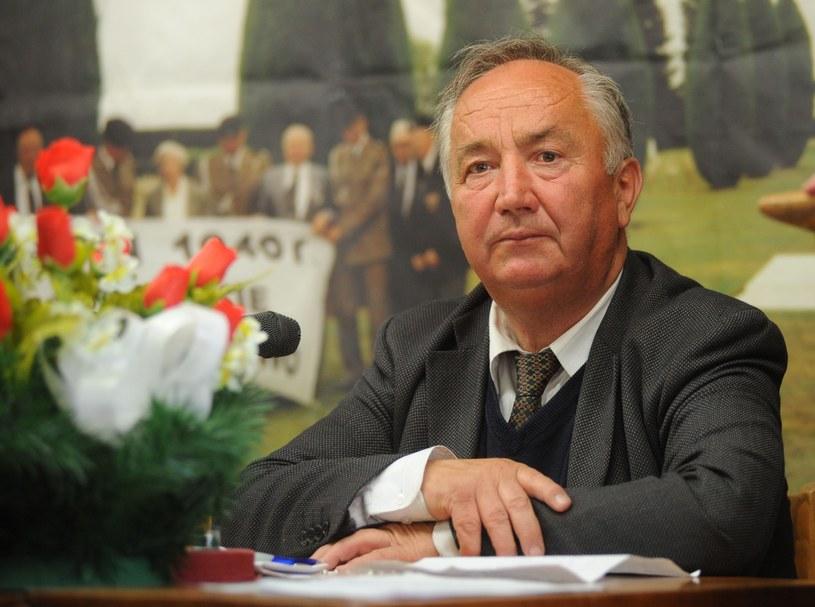 Stefan Melak był przewodniczący Komitetu Katyńskiego /Lech Gawuc /Reporter