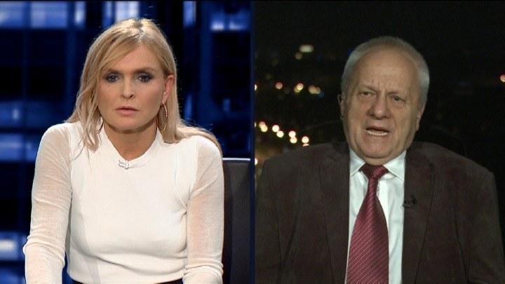 Stefan Niesiołowski był gościem Moniki Olejnik /TVN24/x-news