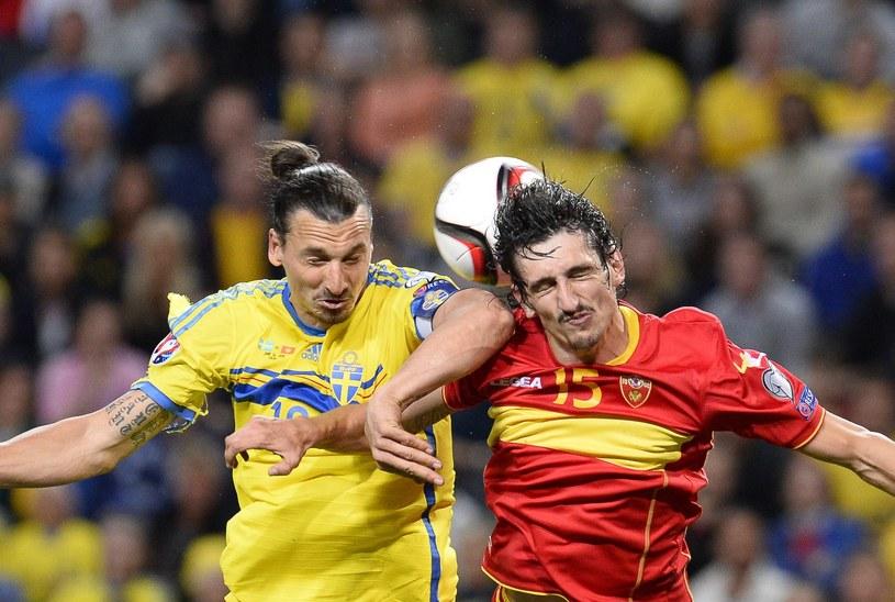 Stefan Savić (z prawej) podczas spotkania reprezentacji Czarnogóry ze Szwecją. Czy to właśnie on zasili Atletico? /AFP