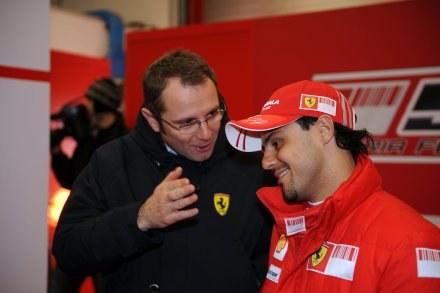 Stefano Domenicali (z lewej) i Felipe Massa. /AFP
