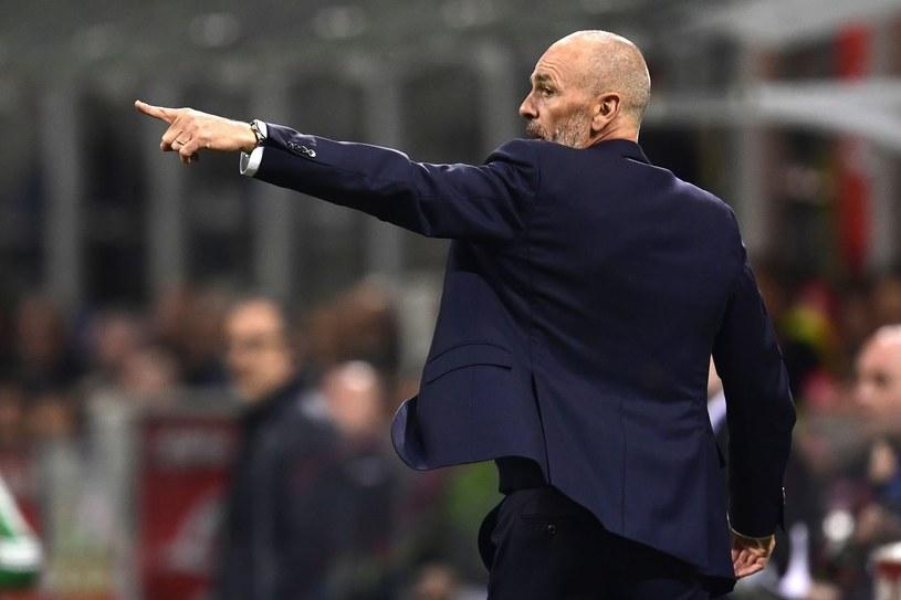 Stefano Pioli podczas meczu na Stadio Giuseppe Meazza /AFP