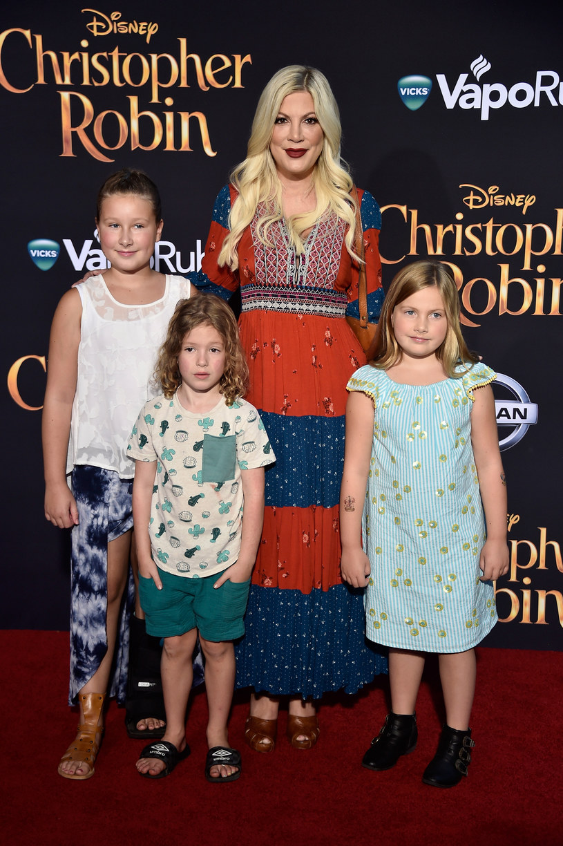 Stella Doreen McDermott, Finn Davey McDermott, Tori Spelling i Hattie Margaret McDermott /Getty Images