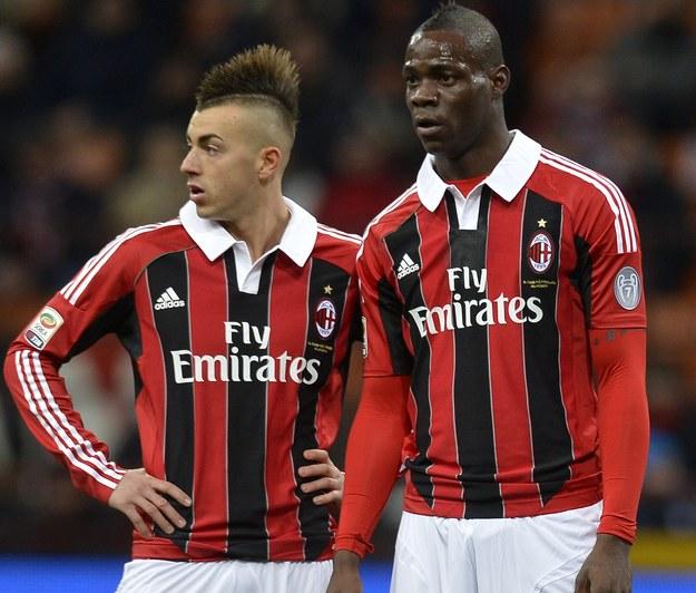 Stephan El Shaarawy (z olewej) i Mario Balotelli /AFP