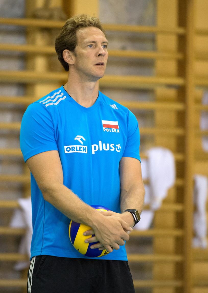 Stephane Antiga podczas treningu w Spale /Fot. Grzegorz Michałowski /PAP